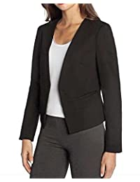 Ladies Blazer With Stretch (Charcoal, Medium)