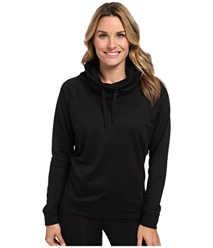New Nike Women's Obsessed Infinity Coverup L/S Top Black Heather/Black Large