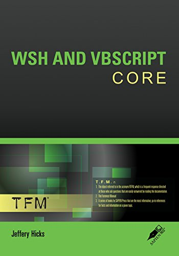 WSH AND VBSCRIPT CORE Pdf