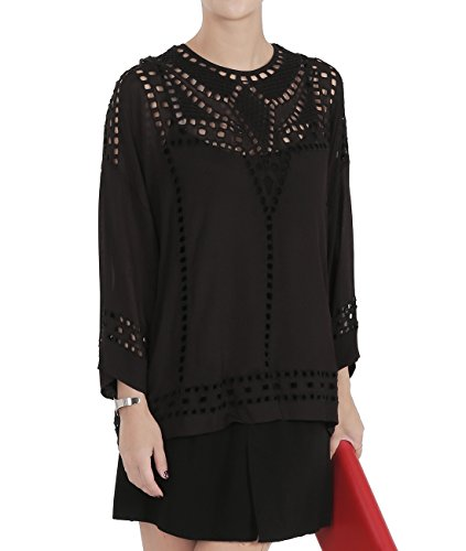wiberlux-isabel-marant-ethan-womens-geometric-eyelet-blouse-38-black