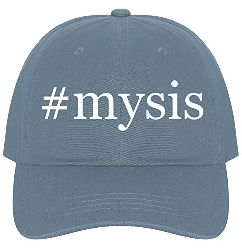 The Town Butler #Mysis - A Nice Comfortable Adjustable Hashtag Dad Hat Cap, Light Blue