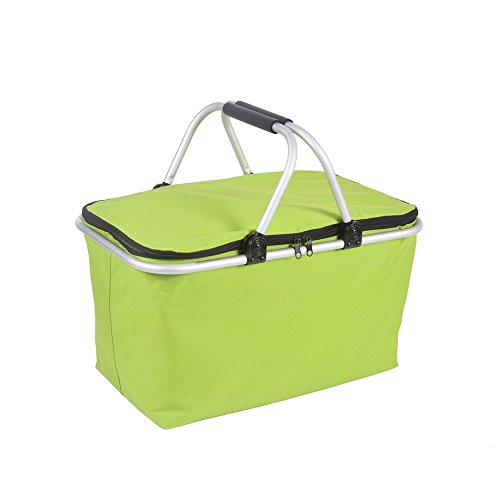 Z ZTDM Insulated Cooler Bag Outdoor Folding Waterproof for Beach Camping Lunch Picnic and Travel Tote Green