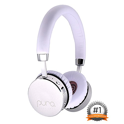 Puro Sound Labs BT2200 Premium Kids Headphones, Volume Limiting Bluetooth Wireless Headphones for Children, Girls and Boys (White)
