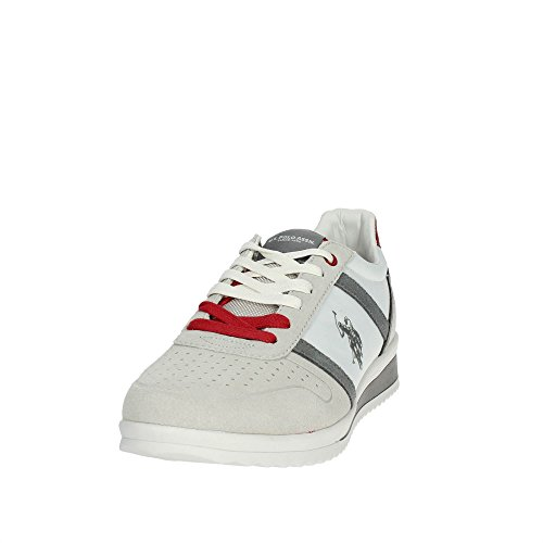 White Tessuto US Gray ASSN Sneaker POLO Uomo Scamosciata S U US18UP01 Scarpe Pelle Tommy Running Bianco Polo xqF14SROw