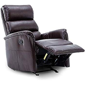 Amazon Com Bonzy Glider Rocking Rocker Recliner Leather