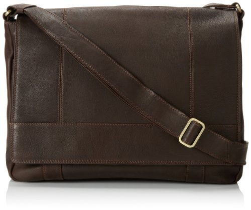 Derek Alexander Ew 3/4 Flap Unisex Messenger Bag, Brown, One Size by Derek Alexander Leather
