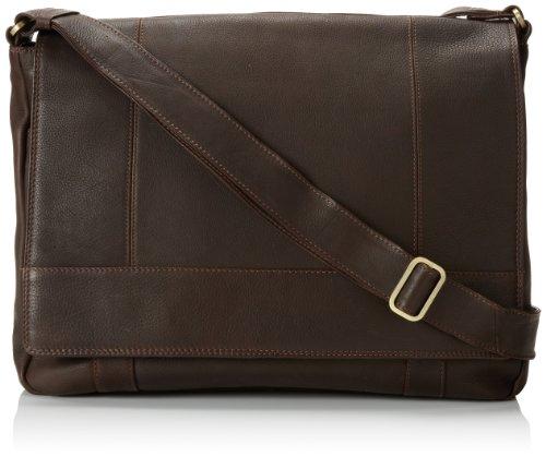 3/4 Flap Messenger Bag (Derek Alexander Ew 3/4 Flap Unisex Messenger Bag, Brown, One Size)