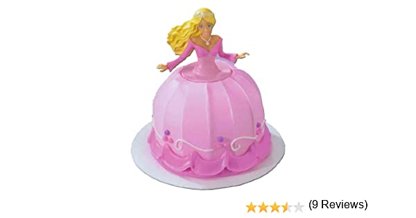 Amazon Com Barbie Cake Topper For Petite Cake Kitchen Dining