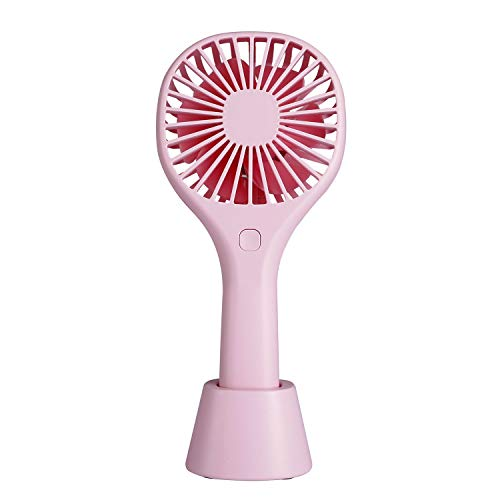 Mini-Handheld-Fan-USB-Desk Fan, Small Personal Portable Table Fan with USB Rechargeable 2200mAh Battery Operated Cooling Electric Fan for Travel Office Room Household