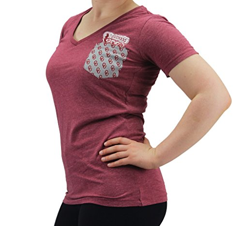Pressbox Women S Oklahoma Sooners V Neck T Shirt