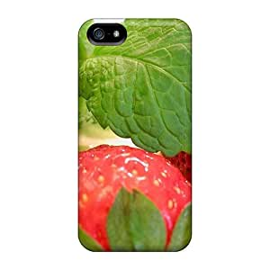 Awesome DUOEnNW3523nHbRC AdamDEdds Defender Tpu Hard Case Cover For Iphone 5/5s- Strawberries And Mint