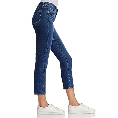 Paige Jacqueline Straight Leg Jeans in Lane Distressed Blue Blue covCN5o