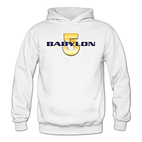 Caili Women's Babylon 5 1994 Classic Logo Hoodies Sweatshirts S White