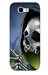 Hot Tpu Cover Case For Galaxy/ Note 2 Case Cover Skin - Dark Gothic Skull Skulls Reaper Grim Roses Rose Death Skeleton