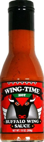Sauce Wing Buffalo Hot 13 OZ -Pack Of 6 by Wing-Time
