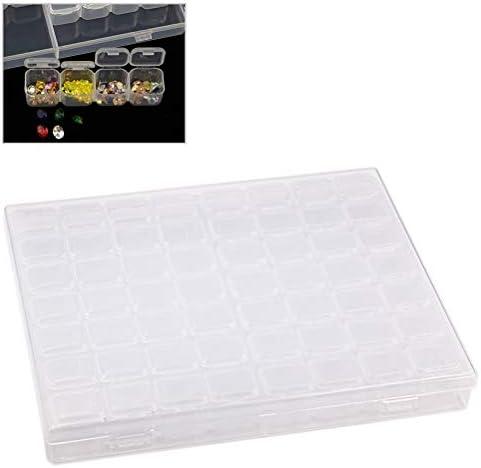 Grokebo 小物収納ケース ジュエリーボックス 仕切り 56グリッド 取り外し可能 収納ボックス 透明ボックス 高品質アクセサリー収納 透明コレクションケース 小物入れ