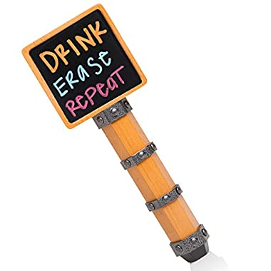Brew Tapper Chalkboard Kegerator Beer Tap Handle - Best Quality Dual Sided Chalkboard Handle, Made of Real Beechwood