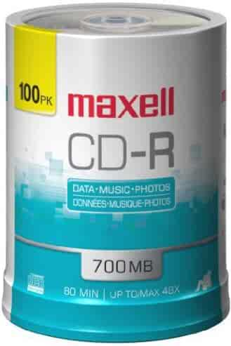 Maxell 648200 Premium Quality Recording Surface Noise Free Playback 700Mb CD-Recordable 48x Write Speeds