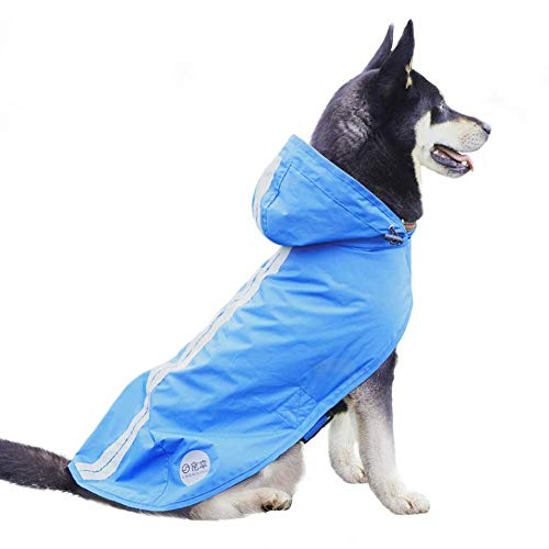 Nourse CHOWSING Dog Raincoat Adjustable Lightweight Waterproof Dog Rain Jacket Dog Rain Poncho Dog Rain Gear with Reflective Strip for Small Medium Large Dogs]()