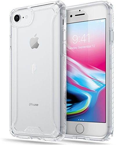 iPhone 7 / iPhone 8 Case, POETIC Affinity Series Premium Thin/No Bulk/Clear/Dual Material Protective Bumper Case for Apple iPhone 7 (2016) / iPhone 8 (2017) Clear/Clear