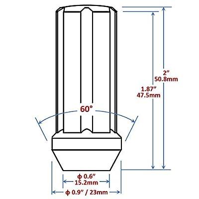 Mastiff 49324 Acorn Spline Lug Nut Set, M14x2.0 Thread, Triple-Chrome Finish, Conical 60 Degree Seat - 2
