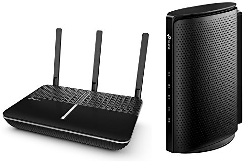 TP-Link Upgrade to a Long-Range, More Powerful Wi-Fi Bundle: Archer C2300 Wave 2 MU-MIMO Wireless Router and TC7650 (24x8) DOCSIS 3.0 High Speed Cable Modem by TP-Link