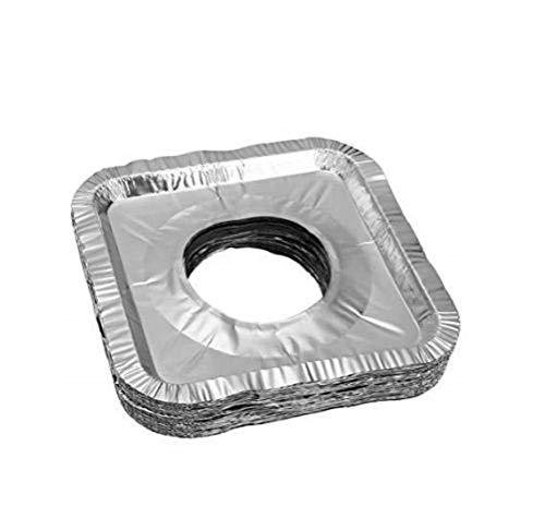 Price comparison product image baree shop 40 pcs Aluminum Foil Square Gas Burner Disposable Bib Liners Stove Covers
