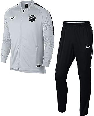 Chandal Nike PSG 2017-2018 Dry Squad, Color Gris / Negro: Amazon ...