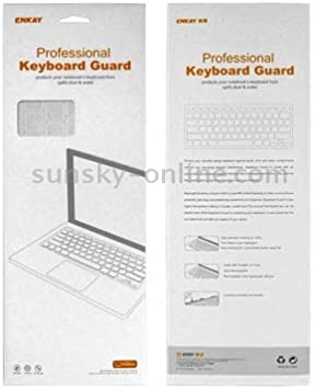 Color : White White Colorful Soft Silicon Keyboard Protector Cover Skin US Version JIN Suitable for Mac ENKAY for MacBook Air 11.6 inch