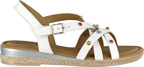 Easy Street Womens, Renata Low Heel Sandals White