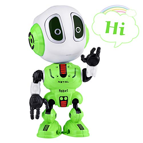 SnowCinda Toys for 5-7 Year Old Boys or Girls Toys, Metal Talking Robots for Kids with Cool Sound & Touch Sensitive LED Eyes Flexible Body, Best Gifts for 3-10 Boys or Girls Toys (Cool Toys For 5 Year Old Boy)