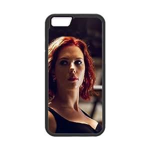 iPhone 6 Plus 5.5 Inch Phone Case Black Hf Avengers Natasha Scarlett Johansson Sexy Hero MD6K1HMX Metal Cell Phone Cases