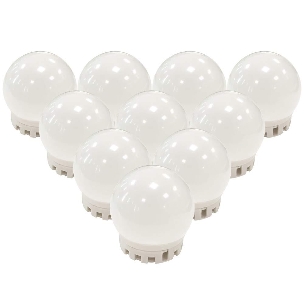 TOMNEW Vanity - Juego de 10 bombillas LED de espejo para tocador de maquillaje con regulador táctil y enchufe de fuente de alimentación: Amazon.es: ...