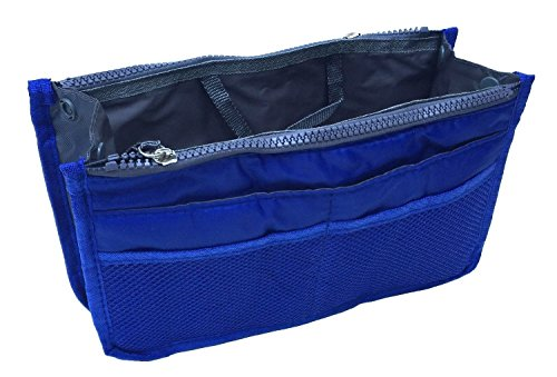 Blue Large Handles Organizer Practical 13 for with Expandable amp; Neat Dual Travel Tidy Pocket Nylon Pouch Toiletry Outdoor Sports Dark Bag Storage Makeup Overnight Cosmetic Feikai Insert Handbag Purse q8fBwPxqg