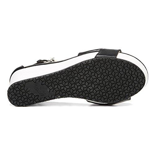 Dr. Collezione Originale Di Scholl Da Donna Warner Cinturino Alla Caviglia Sandalo In Pelle Nera