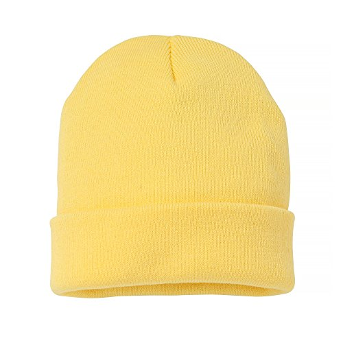 Beanie limón Amarillo Gorro punto Unisex mujer Turn Modelo de Nutshell hombre adulto Up gHF7nBw