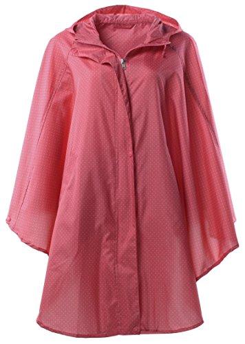QZUnique Waterproof Packable Batwing sleeved Raincoat