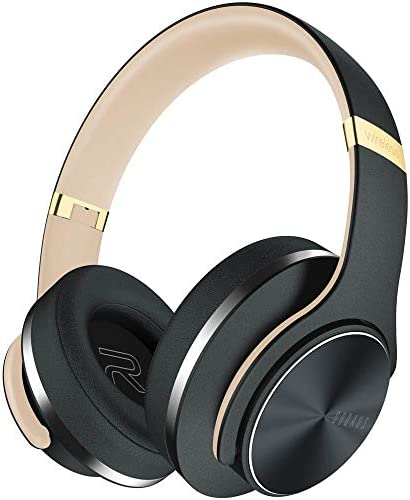 Bluetooth Headphones Over Ear 45 Hrs Playtime DOQAUS Wireless Headset Hi-Fi Stereo Comfortable Foldable with Mic, Wired EQ Mode for Cell Phones Tablets PC TV