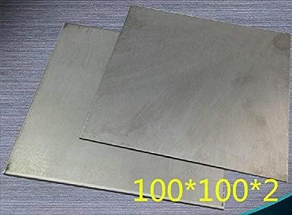 Huscus New 5pcs/lot 2mm Thickness 100x100mm Titanium Ti Plate