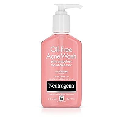 Neutrogena Oil-Free Acne Wash Pink Grapefruit Facial Cleanser, 6 fl. oz.