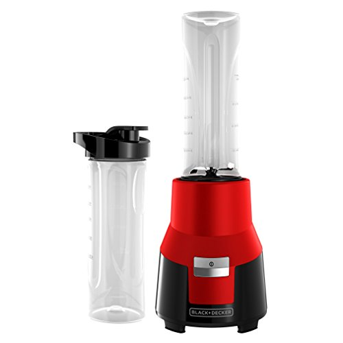 (BLACK+DECKER FusionBlade Personal Blender with Two 20oz Personal Blending Jars, Red, PB1002R)