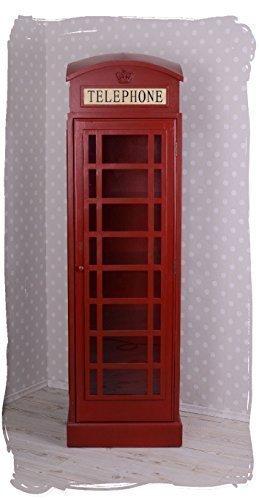 Grosse Vitrine Englische Telefonzelle Rot Schrank Barschrank Palazzo