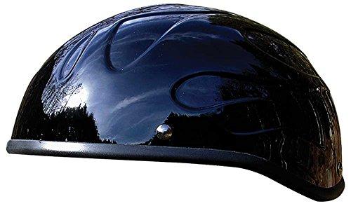 Flame Beanie Motorcycle Helmet - Voss Non-Dot Novelty Headwear Motorcycle Helmet - Bullet Flame Beanie