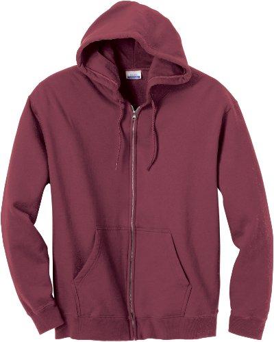 Hanes B280 Premium Cotton Full-Zip Hoodie S Maroon