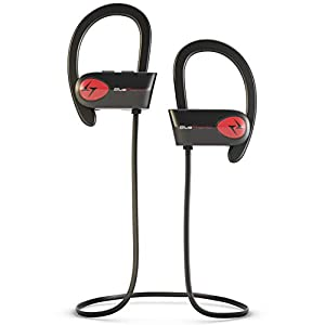 Bluephonic Bluetooth Wireless Headphones, DeepBassX Beats HD Stereo Sound, IPX7 Sweat and Water Proof Fit in Ear Workout Sport Earbuds, Noise Cancelling Running Earphones, Built in Mic, Play 8 hr