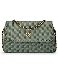 bfd230c4d7d9 Seafoam Green Rattan Flap Bag (Pre-Owned) · CHANEL