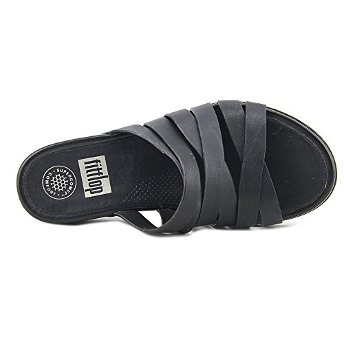 Fitflop Women's All Black Lump Leather Slide rr4FwqBC