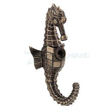 Unicorn Studios WU76812A1 Steampunk Seahorse Single Wall Hook - Bronze