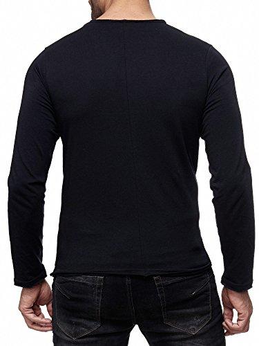 Noir Sweat hommes shirt M2116 manches pont à Mix de Pull Red longues pour X7ZATrZ