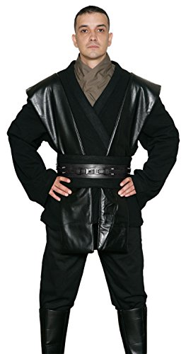 Jedi-Robe Men's Star Wars Anakin Skywalker Tunic Set Large Black (Anakin Skywalker Robe)